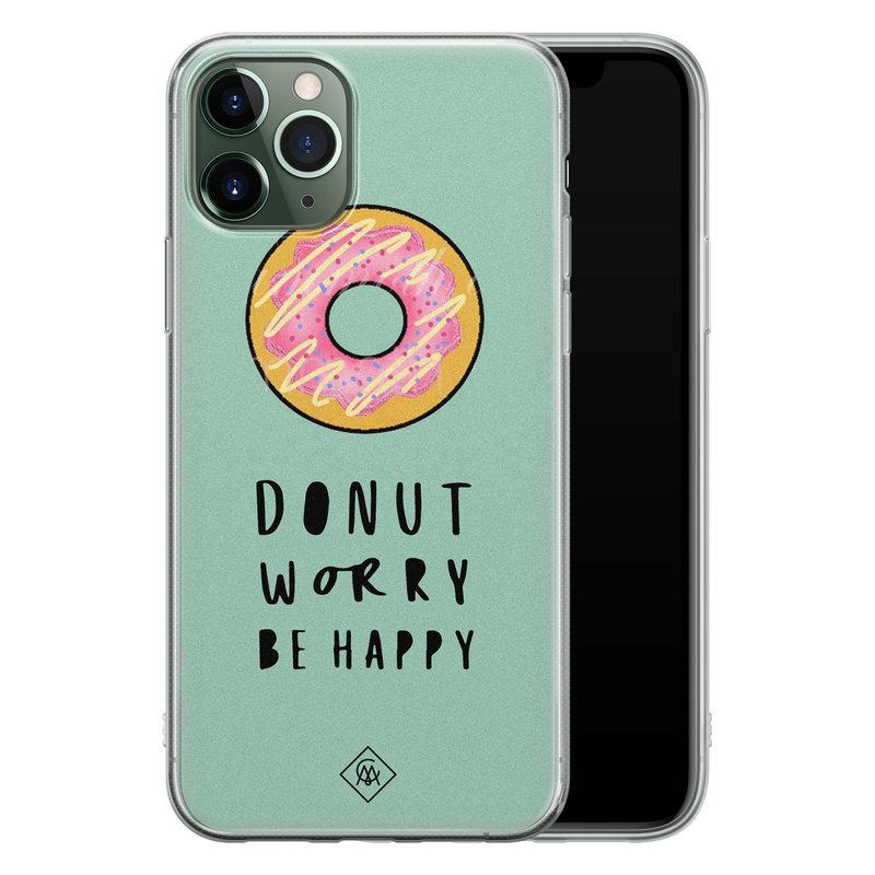 Casimoda iPhone 11 Pro siliconen hoesje - Donut worry