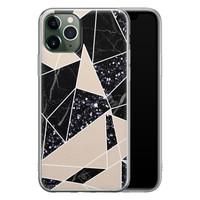 Casimoda iPhone 11 Pro siliconen telefoonhoesje - Abstract painted