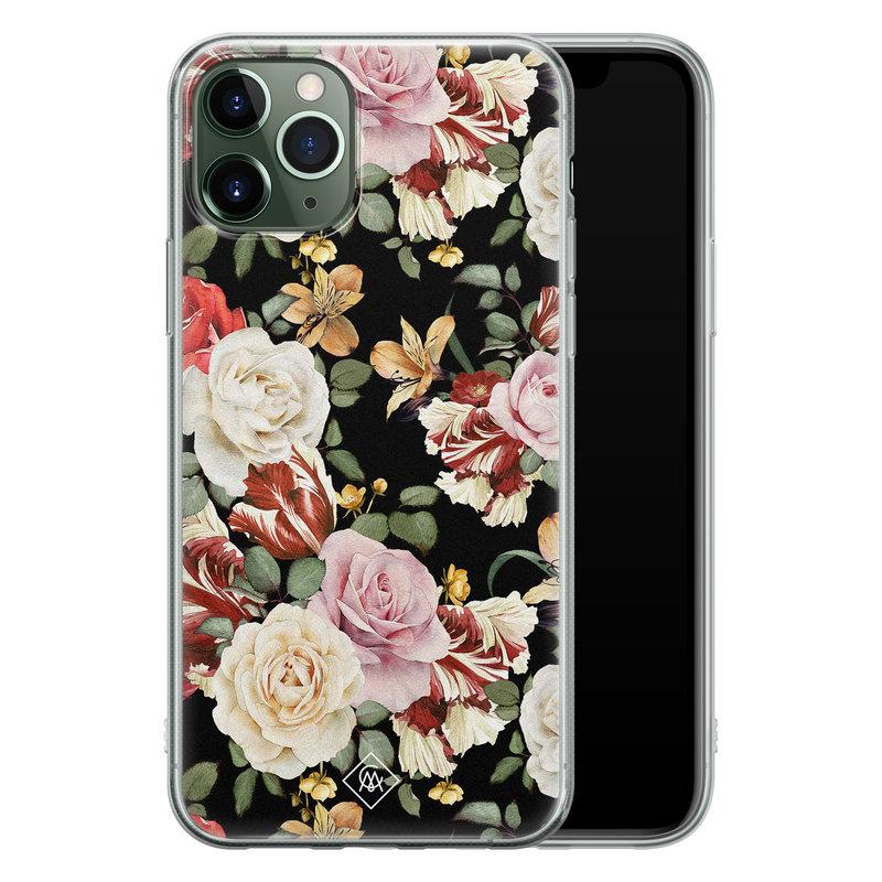 Casimoda iPhone 11 Pro siliconen hoesje - Flowerpower