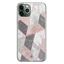 Casimoda iPhone 11 Pro siliconen hoesje - Stone grid