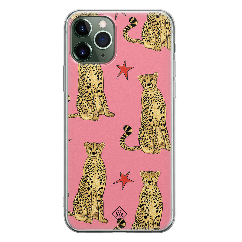 Casimoda iPhone 11 Pro siliconen hoesje - The pink leopard