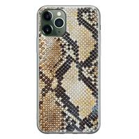 Casimoda iPhone 11 Pro siliconen hoesje - Golden snake