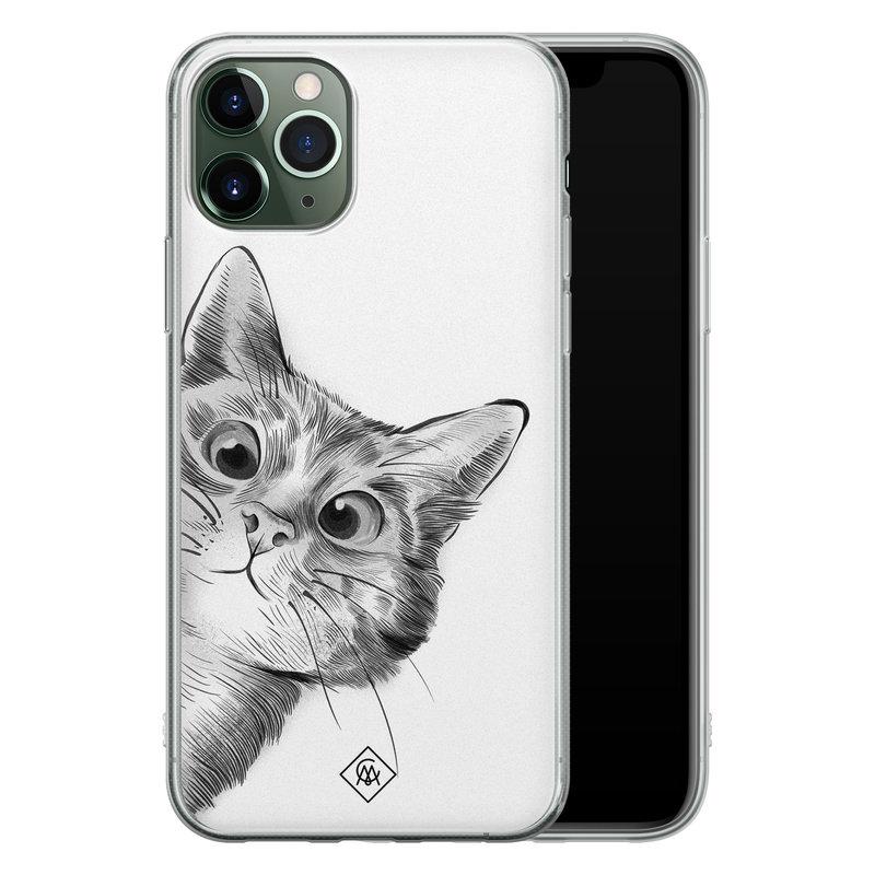Casimoda iPhone 11 Pro siliconen hoesje - Peekaboo