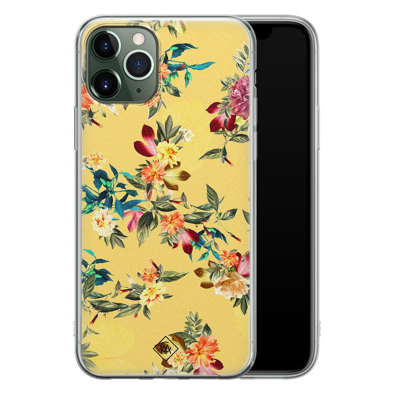 Casimoda iPhone 11 Pro siliconen hoesje - Floral days