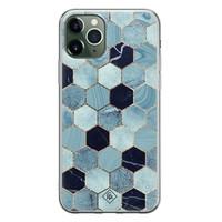 Casimoda iPhone 11 Pro siliconen hoesje - Blue cubes