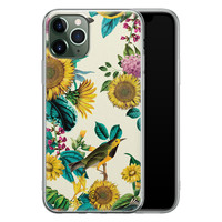 Casimoda iPhone 11 Pro siliconen hoesje - Sunflowers