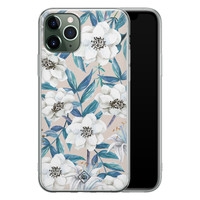 Casimoda iPhone 11 Pro siliconen telefoonhoesje - Touch of flowers