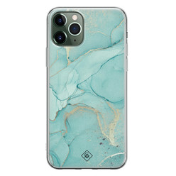Casimoda iPhone 11 Pro Max siliconen hoesje - Touch of mint