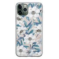 Casimoda iPhone 11 Pro Max siliconen telefoonhoesje - Touch of flowers
