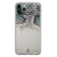Casimoda iPhone 11 Pro Max siliconen hoesje - Oh my snake