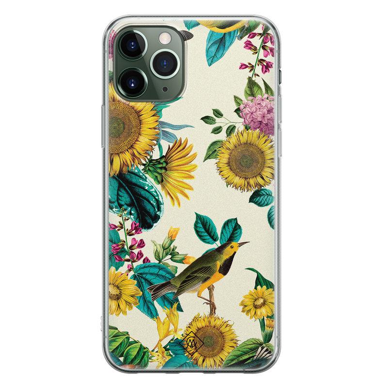 Casimoda iPhone 11 Pro Max siliconen hoesje - Sunflowers