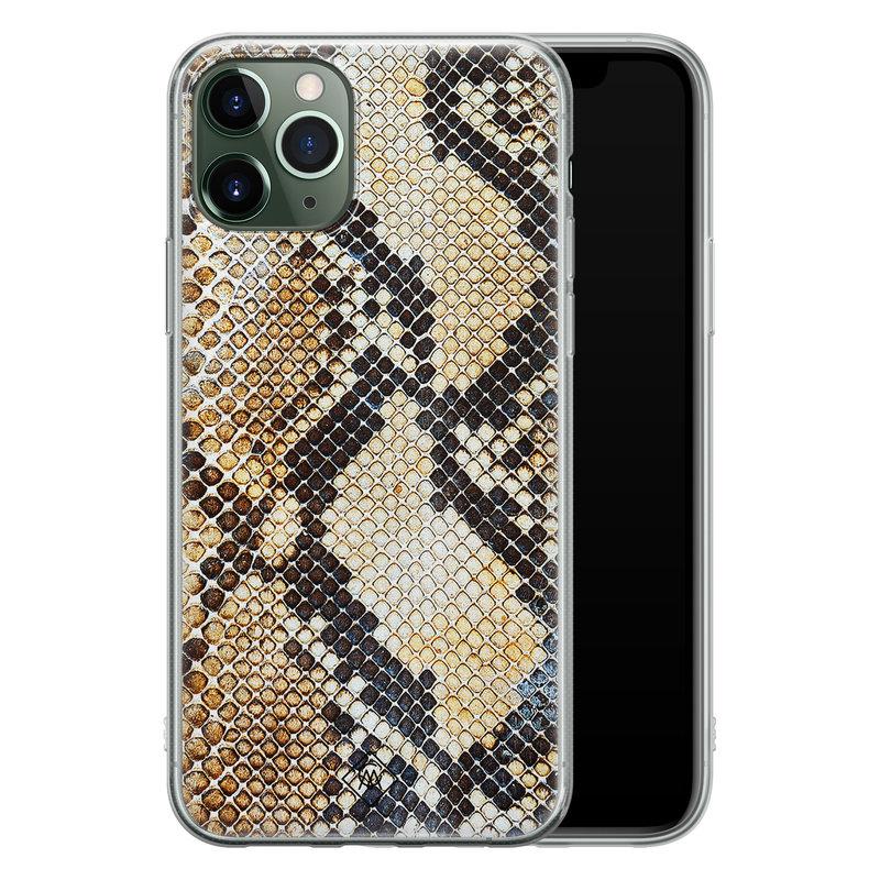 Casimoda iPhone 11 Pro Max siliconen hoesje - Golden snake