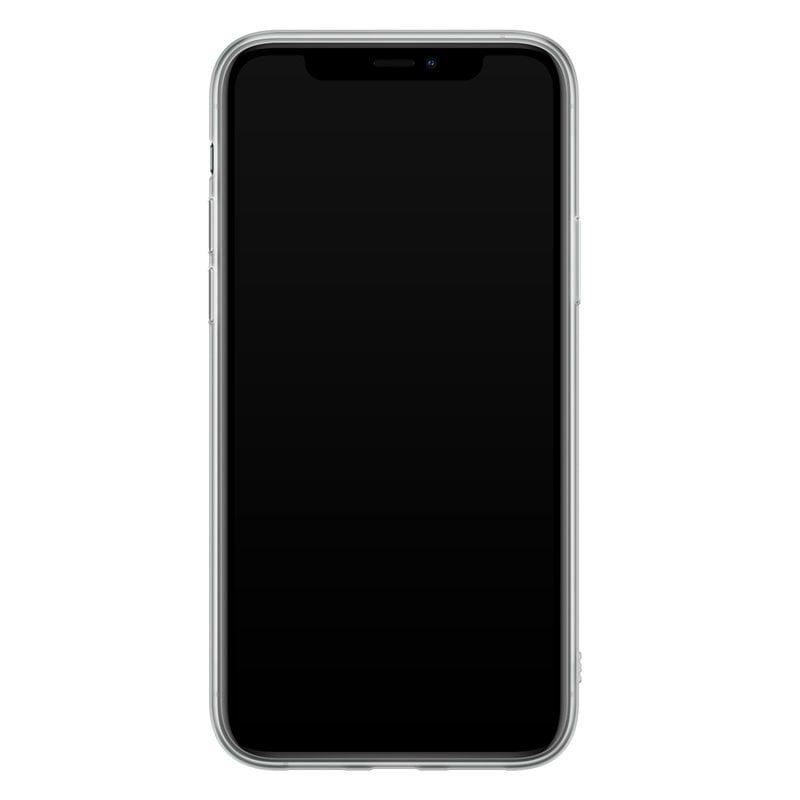 Casimoda iPhone 11 Pro Max siliconen hoesje - Marmer triangles
