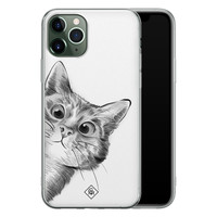 Casimoda iPhone 11 Pro Max siliconen hoesje - Peekaboo