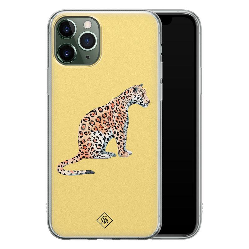 Casimoda iPhone 11 Pro Max siliconen hoesje - Leo wild