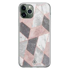 Casimoda iPhone 11 Pro Max siliconen hoesje - Stone grid