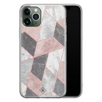 Casimoda iPhone 11 Pro Max siliconen telefoonhoesje - Stone grid