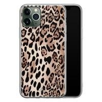 Casimoda iPhone 11 Pro Max siliconen hoesje - Golden wildcat