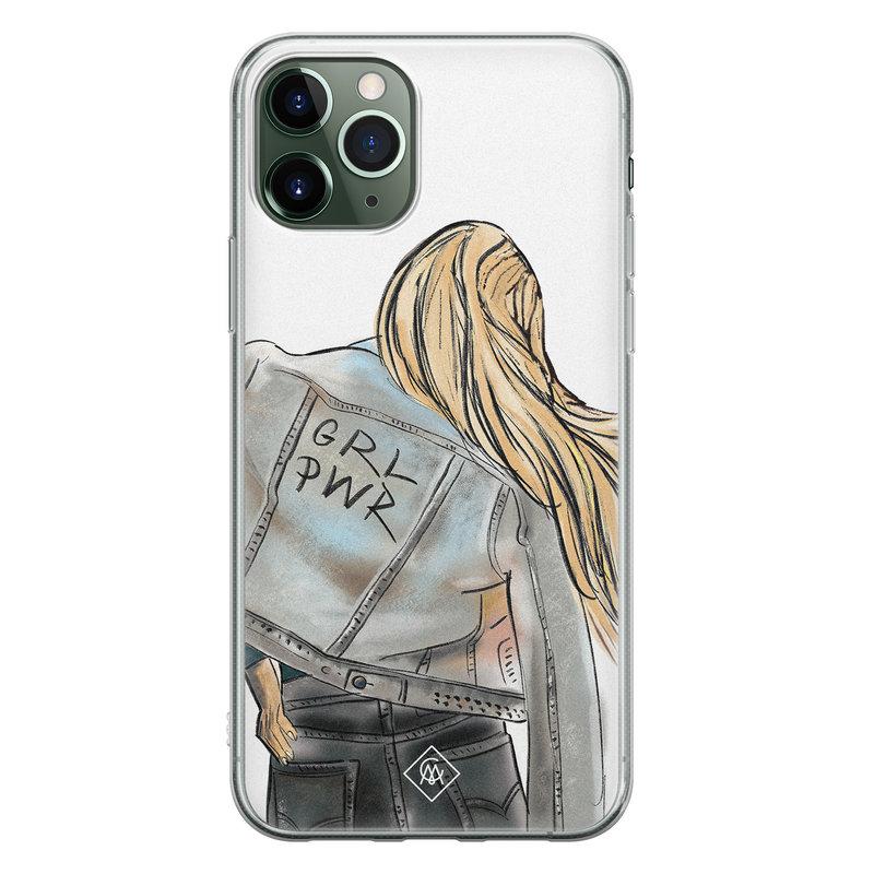 Casimoda iPhone 11 Pro Max siliconen hoesje - GRL PWR