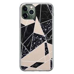 Casimoda iPhone 11 Pro Max siliconen hoesje - Abstract painted