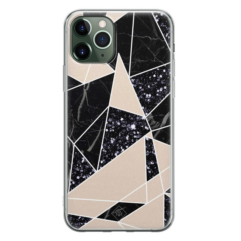 Casimoda iPhone 11 Pro Max siliconen telefoonhoesje - Abstract painted