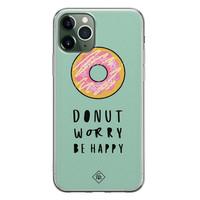 Casimoda iPhone 11 Pro Max siliconen hoesje - Donut worry