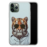 Casimoda iPhone 11 Pro Max siliconen hoesje - Tijger wild