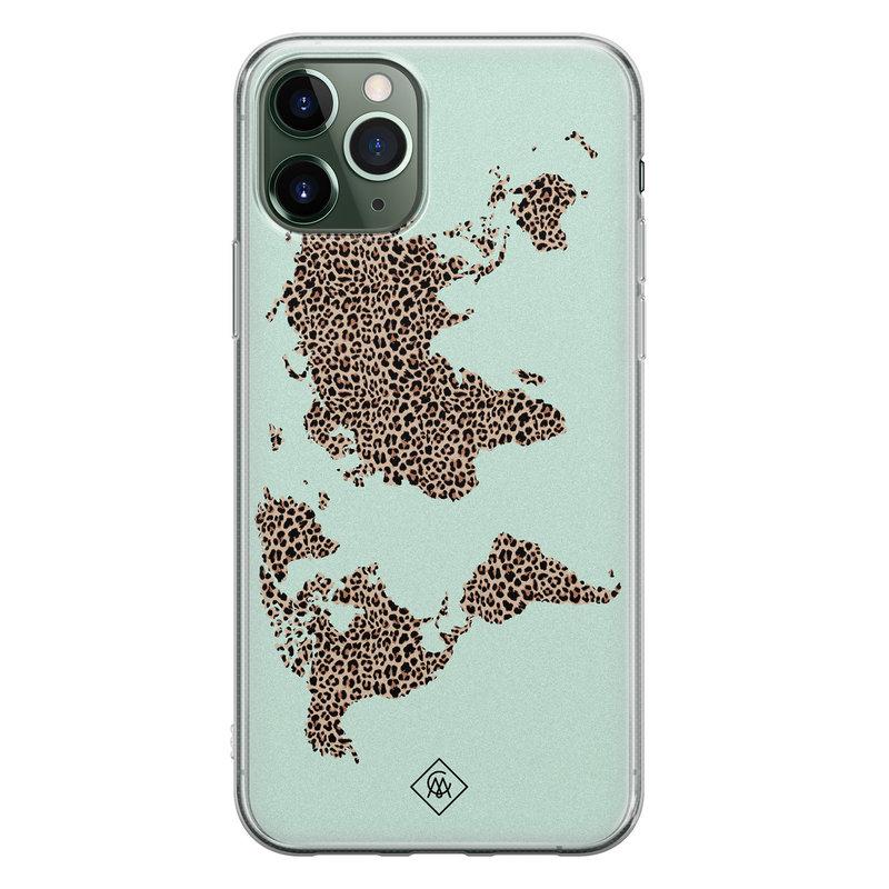 Casimoda iPhone 11 Pro Max siliconen hoesje - Wild world