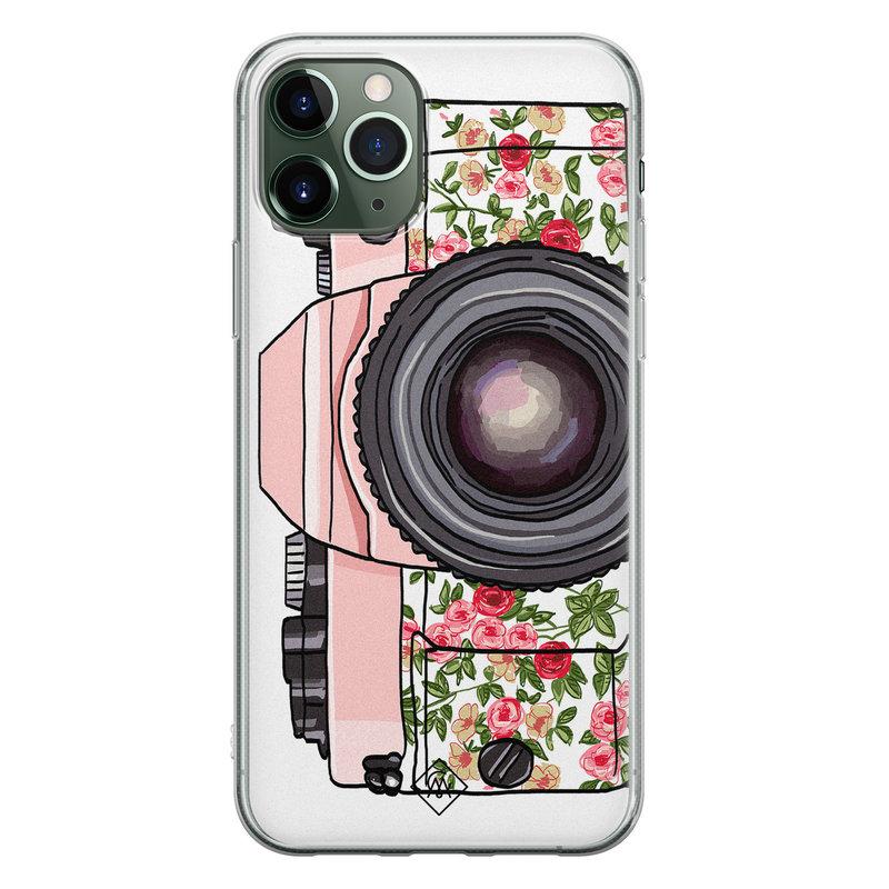 Casimoda iPhone 11 Pro Max siliconen telefoonhoesje - Hippie camera