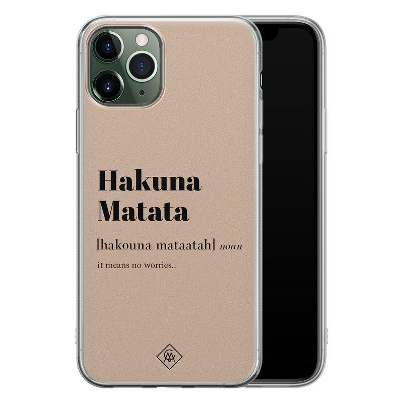 Casimoda iPhone 11 Pro Max siliconen hoesje - Hakuna matata