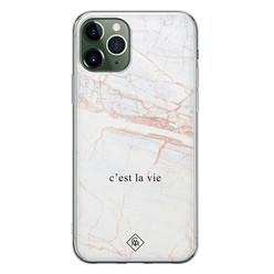Casimoda iPhone 11 Pro Max siliconen hoesje - C'est la vie