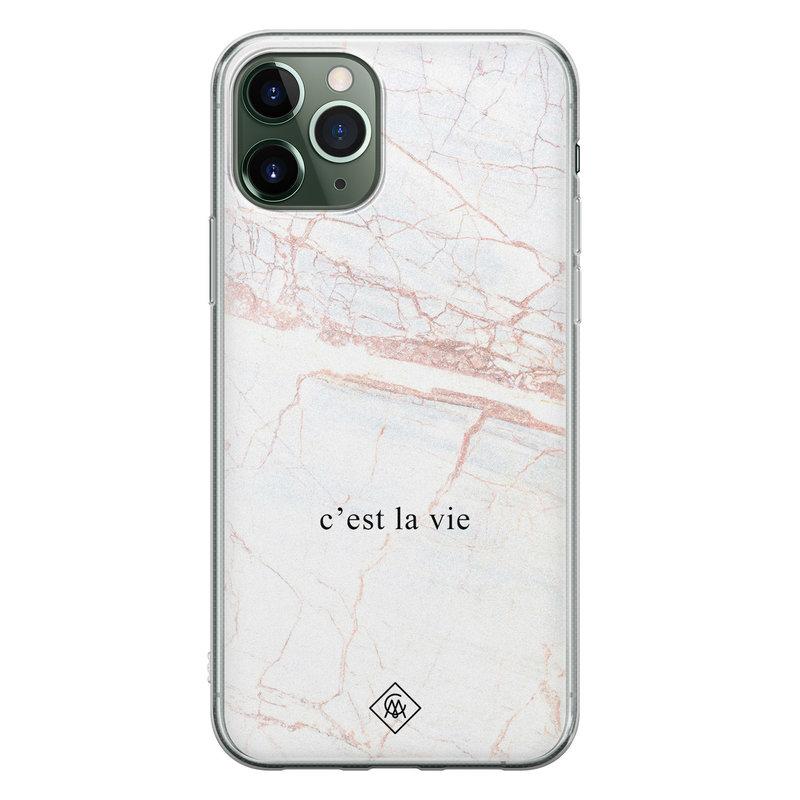 Casimoda iPhone 11 Pro Max siliconen telefoonhoesje - C'est la vie