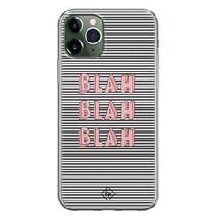 Casimoda iPhone 11 Pro Max siliconen hoesje - Blah blah blah