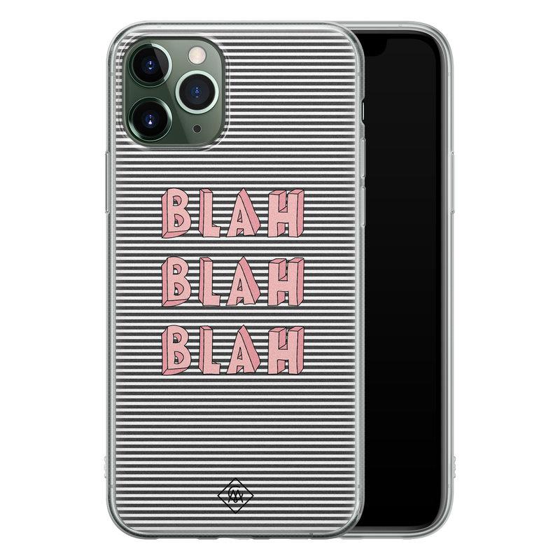 Casimoda iPhone 11 Pro Max siliconen telefoonhoesje - Blah blah blah