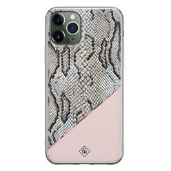 Casimoda iPhone 11 Pro Max siliconen hoesje - Snake print