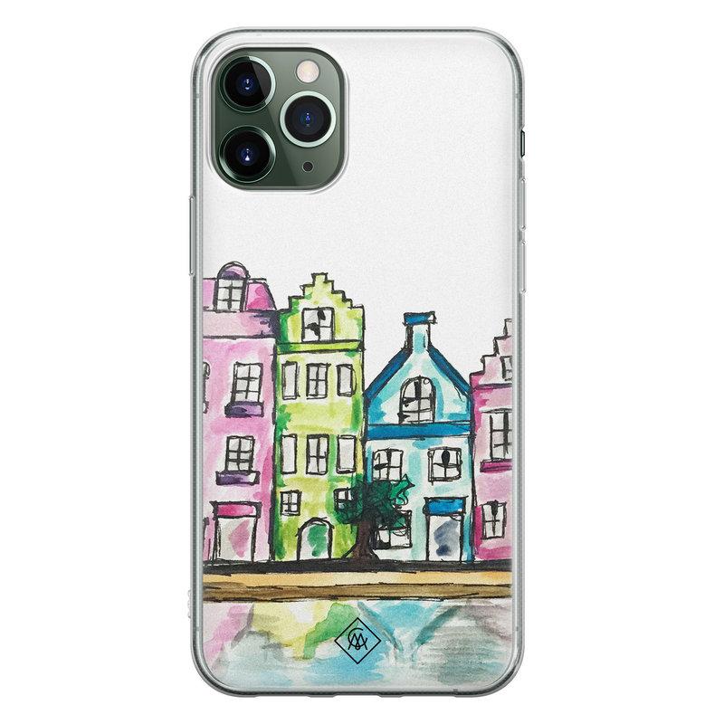 Casimoda iPhone 11 Pro Max siliconen telefoonhoesje - Amsterdam