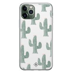 Casimoda iPhone 11 Pro Max siliconen hoesje - Cactus print