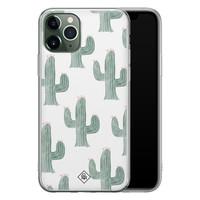 Casimoda iPhone 11 Pro Max siliconen telefoonhoesje - Cactus print