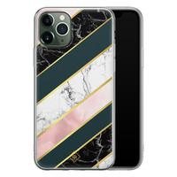 Casimoda iPhone 11 Pro Max siliconen hoesje - Marble stripes
