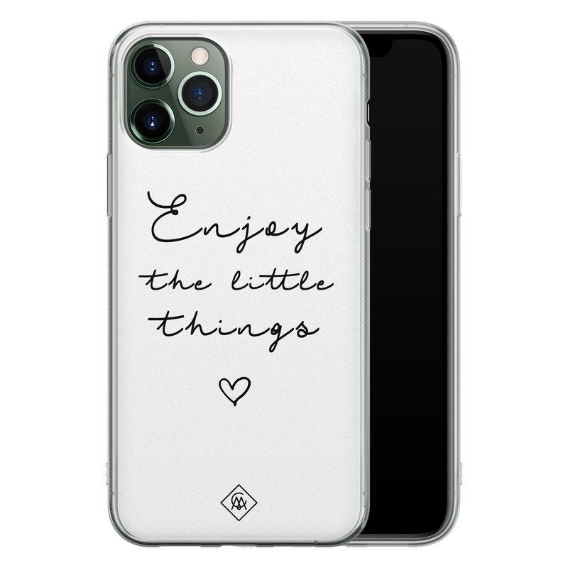 Casimoda iPhone 11 Pro Max siliconen hoesje - Enjoy life