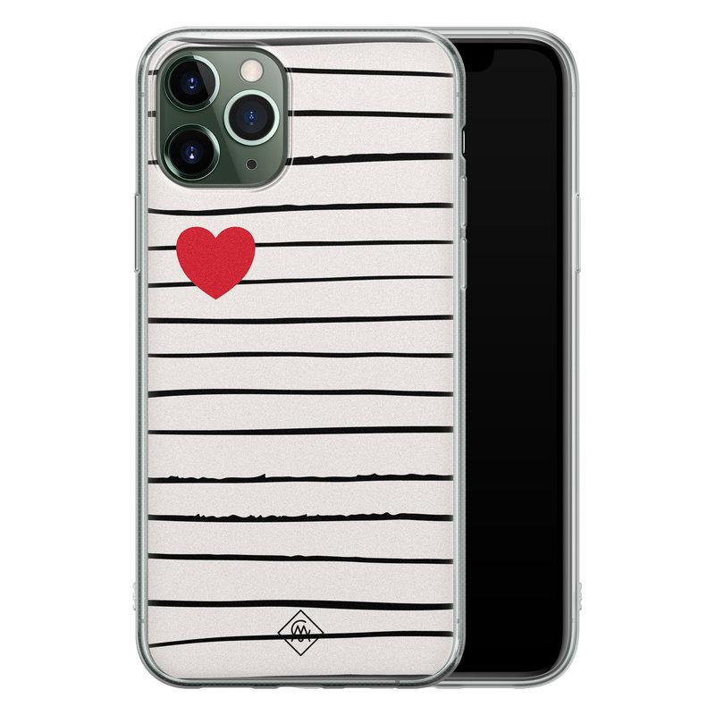 Casimoda iPhone 11 Pro Max siliconen hoesje - Heart queen