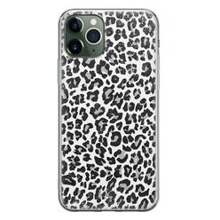 Casimoda iPhone 11 Pro Max siliconen hoesje - Luipaard grijs
