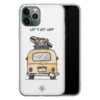 Casimoda iPhone 11 Pro Max siliconen hoesje - Let's get lost