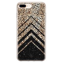 Casimoda iPhone 8 Plus/7 Plus siliconen hoesje - Chevron luipaard