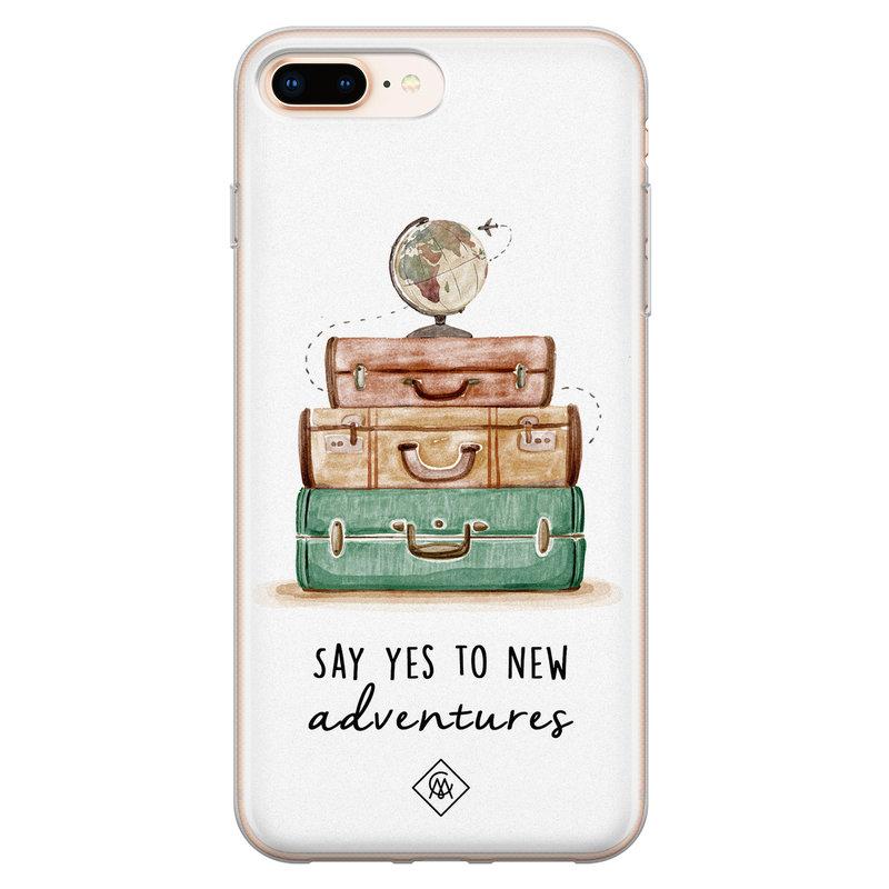 Casimoda iPhone 8 Plus/7 Plus siliconen hoesje - Wanderlust