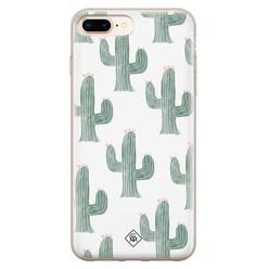 Casimoda iPhone 8 Plus/7 Plus siliconen hoesje - Cactus print