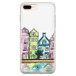 Casimoda iPhone 8 Plus/7 Plus siliconen hoesje - Amsterdam
