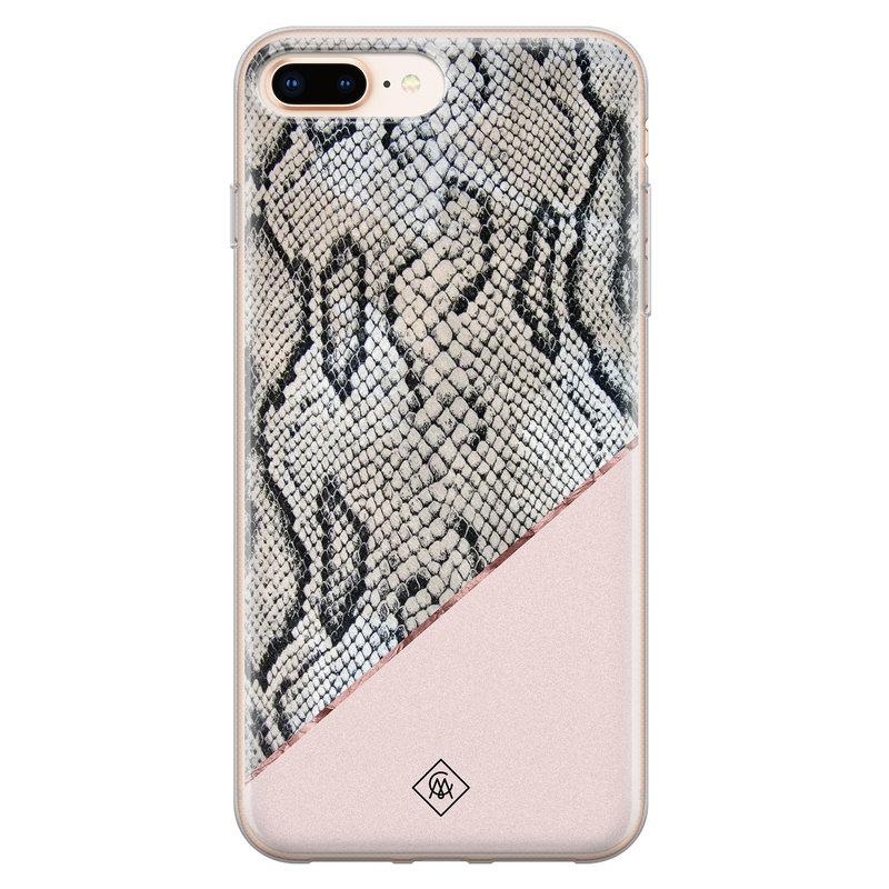 Casimoda iPhone 8 Plus/7 Plus siliconen hoesje - Snake print