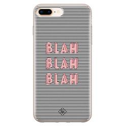 Casimoda iPhone 8 Plus/7 Plus siliconen hoesje - Blah blah blah