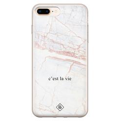 Casimoda iPhone 8 Plus/7 Plus siliconen hoesje - C'est la vie